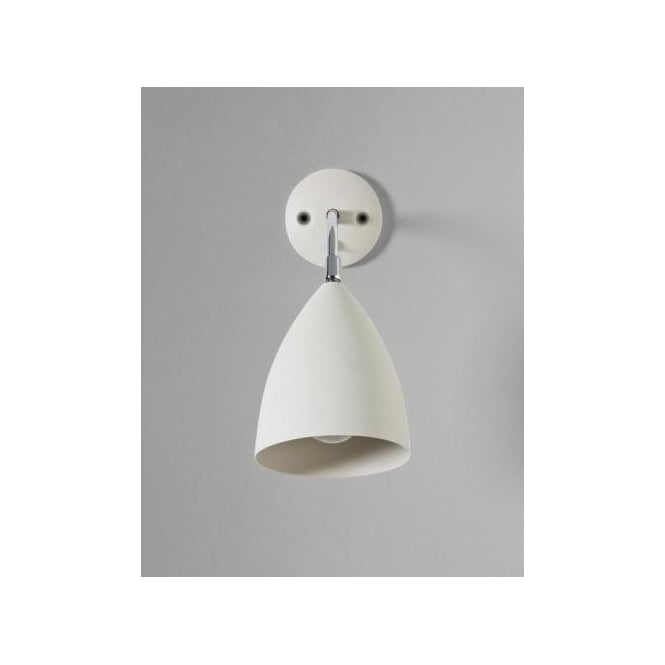 Astro Lighting Joel Single Light Switched Wall Fitting In Cream And Polished Chrome Finish