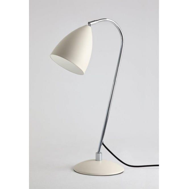 Astro Lighting Joel Single Light Table Lamp In Cream And Polished Chrome Finish