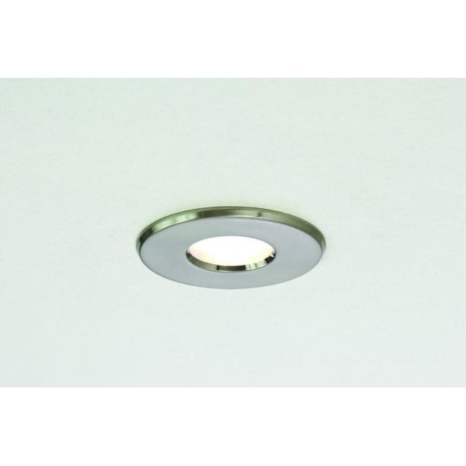 Astro Lighting Kamo Single Light Halogen Recessed Bathroom Ceiling Fitting In Brushed Nickel Finish
