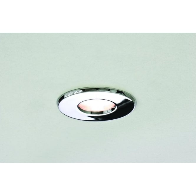 Astro Lighting Kamo Single Light Halogen Recessed Fire Rated Bathroom Ceiling Fitting In Polished Chrome Finish