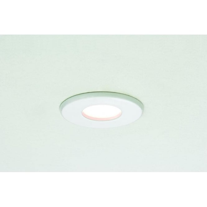 Astro Lighting Kamo Single Light Halogen Recessed Fire Rated Bathroom Ceiling Fitting In White Finish