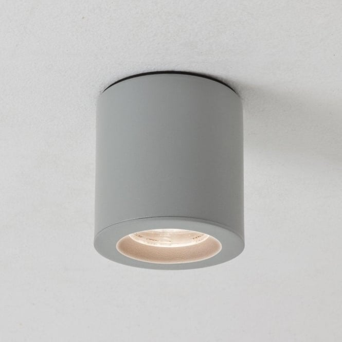 Astro Lighting Kos Single Light LED Ceiling Fitting In Painted Silver Finish