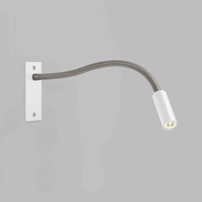 Astro Lighting Leo Single Light LED Reading Light In White And Matt Nickel Finish
