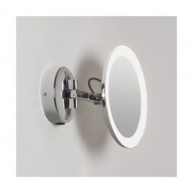 Mascali Round LED Illuminated Magnifying Bathroom Mirror In Polished Chrome Finish (Switched)