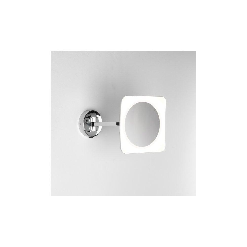Astro Lighting Mascali Square LED Illuminated Magnifying Bathroom ...