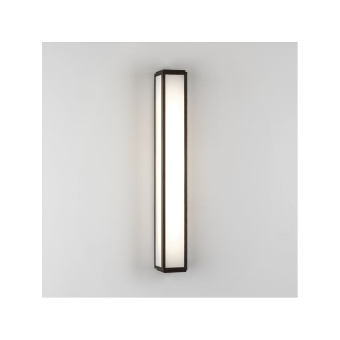 Astro Lighting Mashiko 600 Single Light Low Energy High Output Bathroom Wall Fitting in Bronze Plated Finish