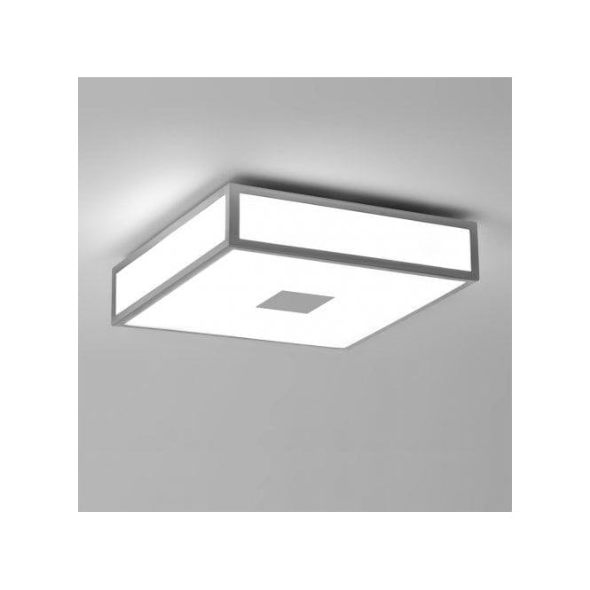 Astro Lighting Mashiko Classic 300 2 Light Flush Bathroom Ceiling Fitting In Painted Silver Finish