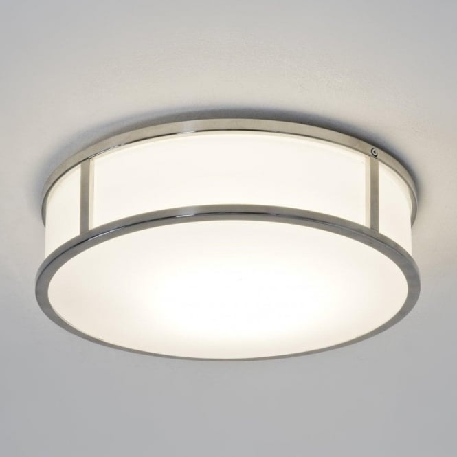 Astro Lighting Mashiko Round 300 Single Light Ceiling Fitting In Polished Chrome Finish