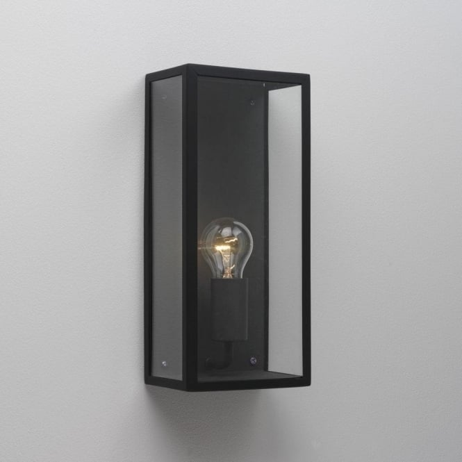 Astro Lighting Messina Single Light Outdoor Wall Fitting in Black Finish