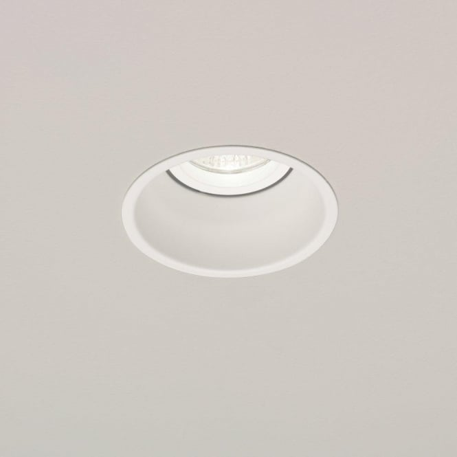 Astro Lighting Minima Single Light Fixed Halogen Recessed Ceiling Fitting In White Finish