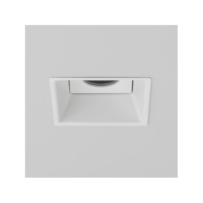 Astro Lighting Minima Single Light LED Dimmable Fire Rated Square Recessed Bathroom Ceiling Downlight in White Finish
