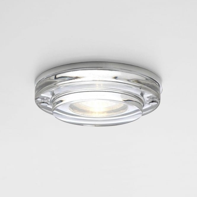 Astro Lighting Mint Single Light Halogen Clear Glass Bathroom Recessed Downlight