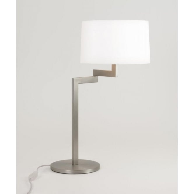 Astro Lighting Momo Single Light Swing Arm Table Lamp Base In Brushed Steel Finish
