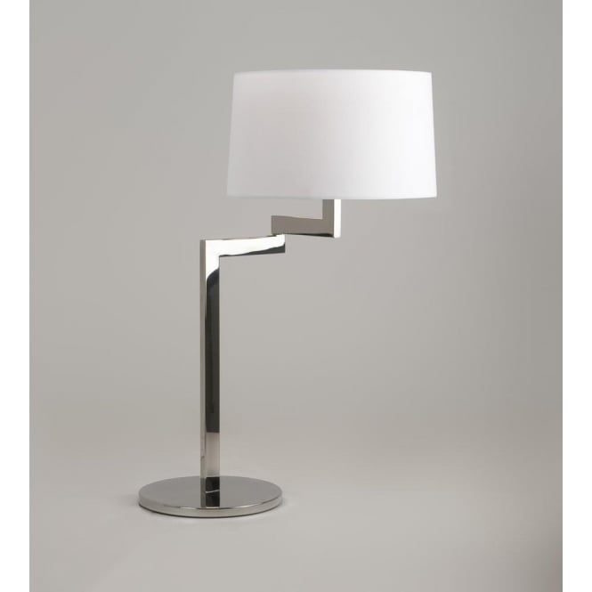 Astro Lighting Momo Single Light Swing Arm Table Lamp Base In Polished Chrome Finish