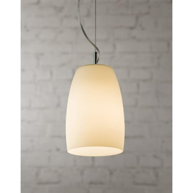 Astro Lighting Nevada 220 Single Light Ceiling Pendant In Polished Chrome And Opal Glass Finish