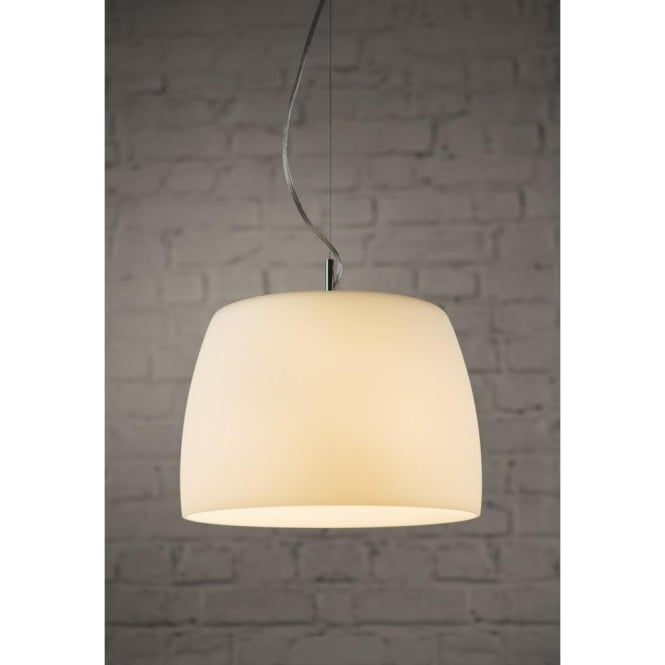 Astro Lighting Nimis 360 Single Light Ceiling Pendant In Polished Chrome Finish With Opal Glass Shade