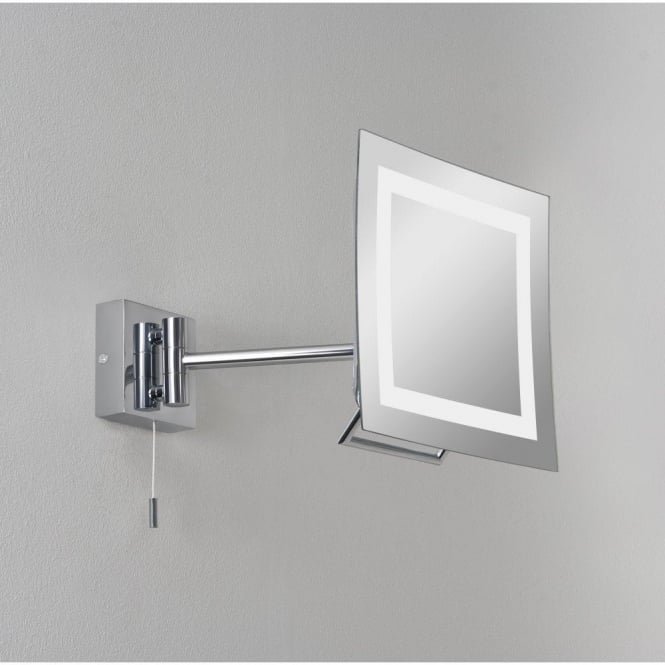 Astro Lighting Niro Single Light Halogen Magnifying Bathroom Mirror In Polished Chrome Finish