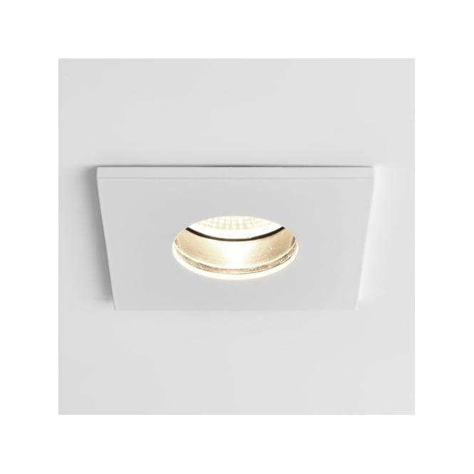 Astro Lighting Obscura Single LED Dimmable Recessed Fire Rated Ceiling Fitting in White Finish