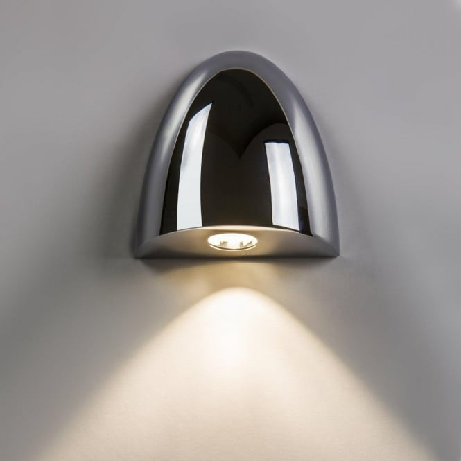 Astro Lighting Orpheus Single Light LED Bathroom Wall Fitting In Polished Chrome Finish
