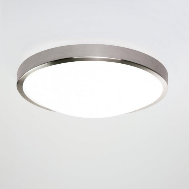 Astro Lighting Osaka Sensor Single LED Bathroom Ceiling Fitting In Brushed Nickel Finish With Motion Sensor