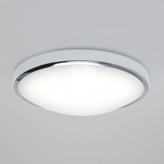 Astro Lighting Osaka Single Light LED Bathroom Ceiling Fitting In Polished Chrome