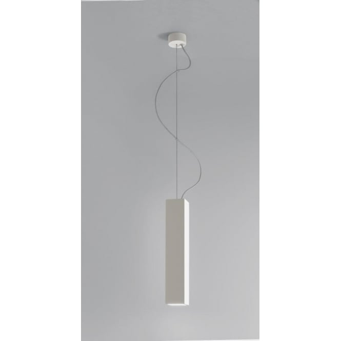 Astro Lighting Osca 400 Single Light Square Low Energy Ceramic Ceiling Pendant In White Finish