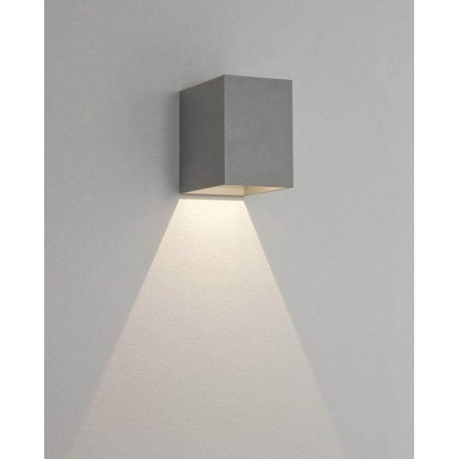 Astro Lighting Oslo 100 Single Light LED Outdoor Wall Fitting In Painted Silver Finish