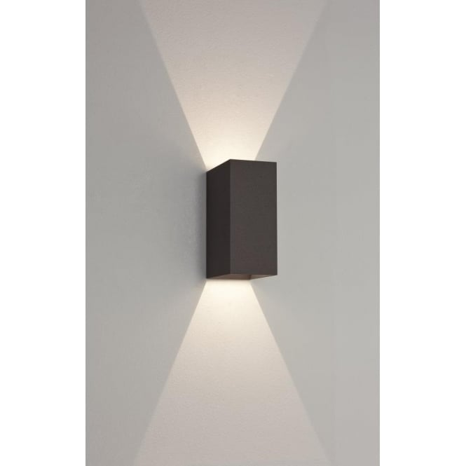 Astro Lighting Oslo 160 LED 2 Light Outdoor Wall Fitting In Black Finish