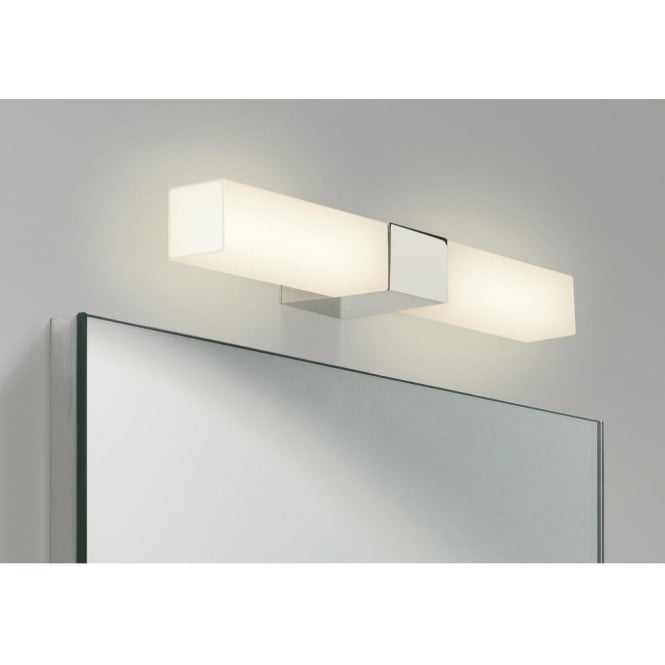 Astro Lighting Padova Square 2 Light Bathroom Wall Fitting in Polished Chrome Finish