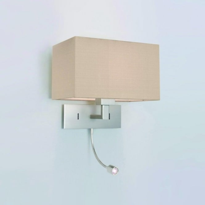 Astro Lighting Park Lane Grande 2 Light Wall Fitting Only in Matt Nickel Complete with LED Reading Light