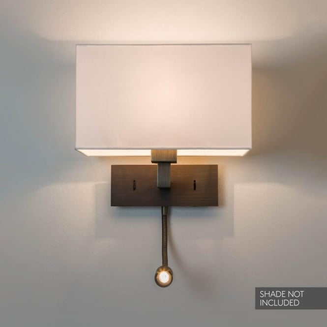 Astro Lighting Park Lane Grande LED Dual Light Switched Wall Fitting in Bronze Finish
