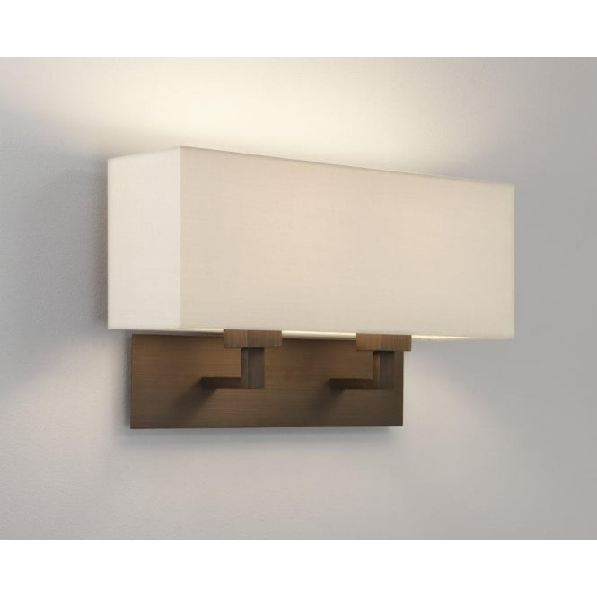 Astro Lighting Park Lane Grande Twin Wall Fitting Only In Bronze Finish