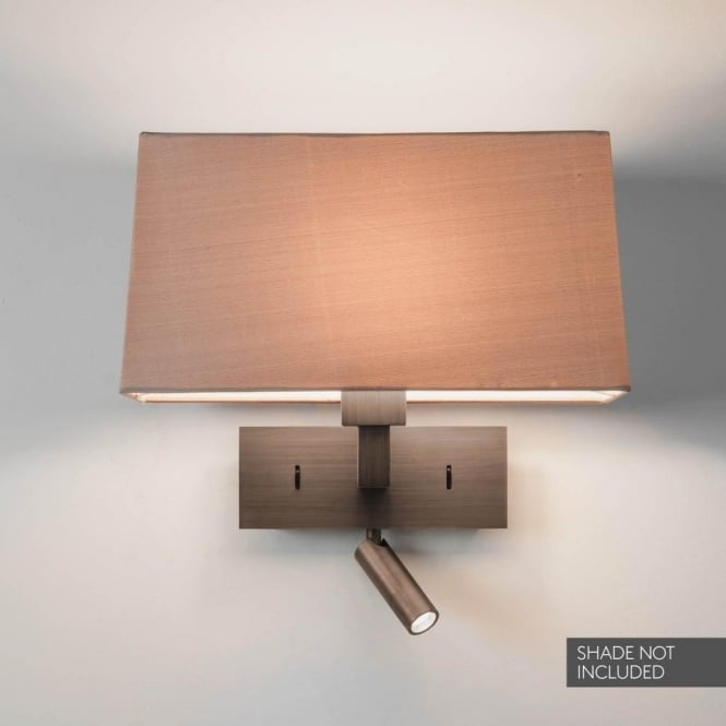 Astro Lighting Park Lane Reader LED Dual Light Switched Wall Fitting In Bronze Finish