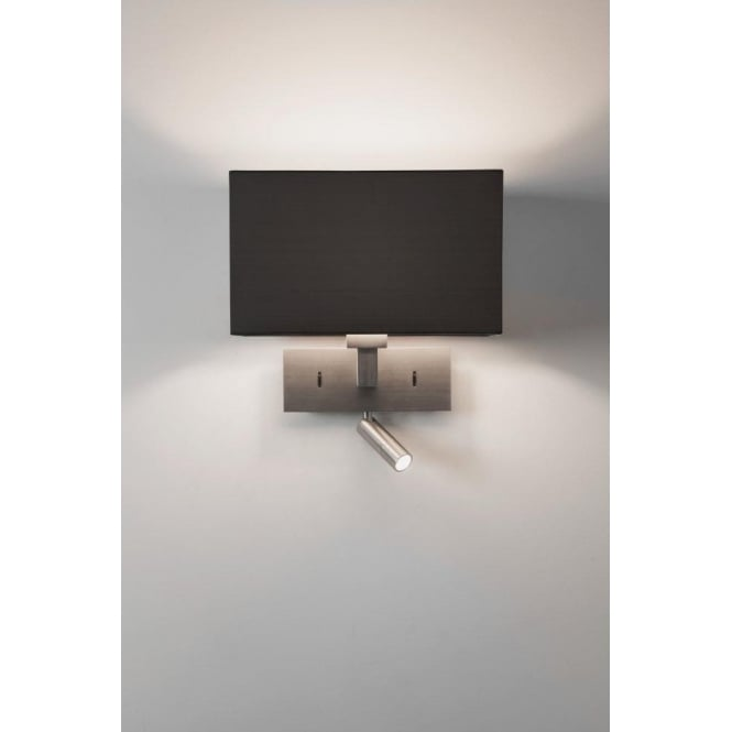 Astro Lighting Park Lane Reader LED Dual Light Switched Wall Fitting In Matt Nickel Finish