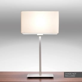 Park Lane Single Light Table Lamp Base Only In Matt Nickel Finish