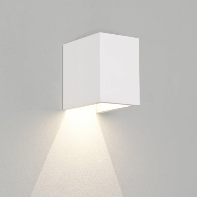 Astro Lighting Parma 100 LED Single Light Ceramic Wall Fitting In White Finish