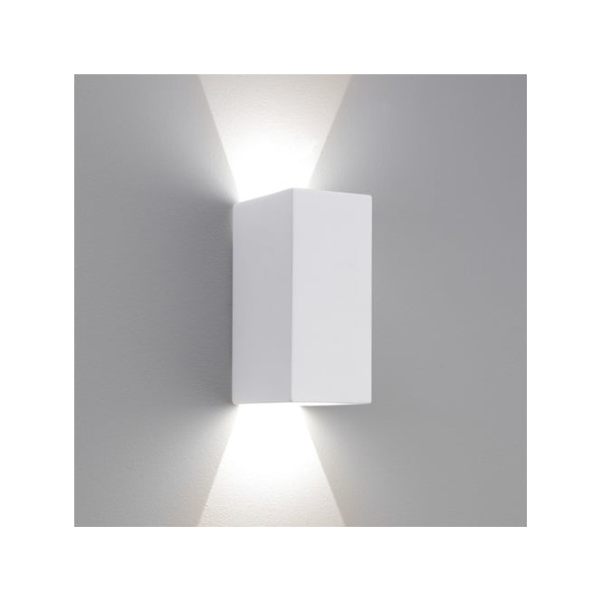 Astro Lighting Parma 160 LED 2 Light Ceramic Interior Wall Fitting In White Finish