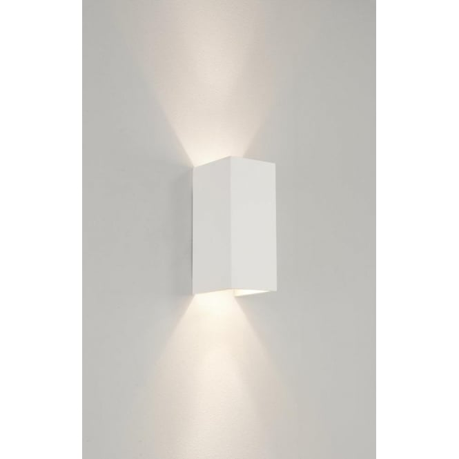 Astro Lighting Parma 210 Halogen 2 Light Ceramic Wall Fitting In White Finish