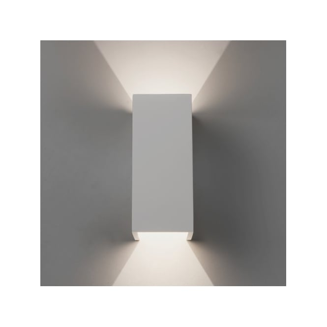 Astro Lighting Parma 210 LED 2 Light Ceramic Interior Wall Fitting In White Finish