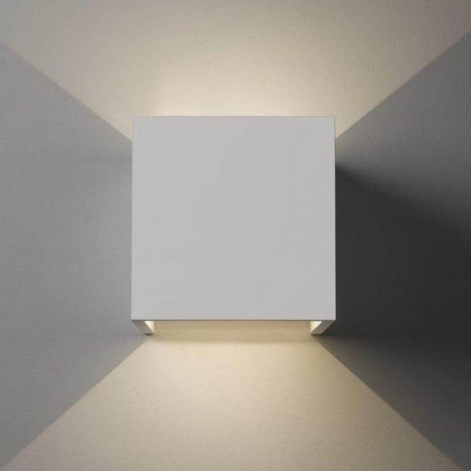 Astro Lighting Pienza LED 2 Light Ceramic Wall Fitting In White Finish