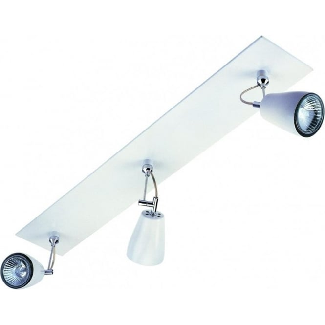 Astro Lighting Polar Triple Bar Spotlight in White Finish With Polished Chrome Detail