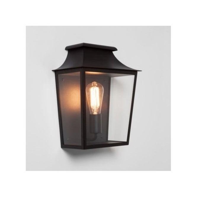 Astro Lighting Richmond 285 Flush Single Outdoor Lantern in Black Finish (Dimmable)
