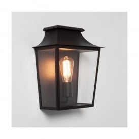 Richmond 285 Flush Single Outdoor Lantern in Black Finish (Dimmable)