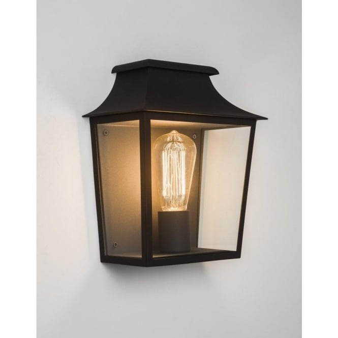 Astro Lighting Richmond Single Light Outdoor Flush Wall Lantern In Black Finish