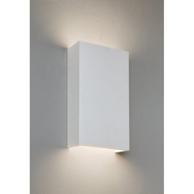 Astro Lighting Rio 190 LED Single Light Ceramic Wall Fitting In White Finish