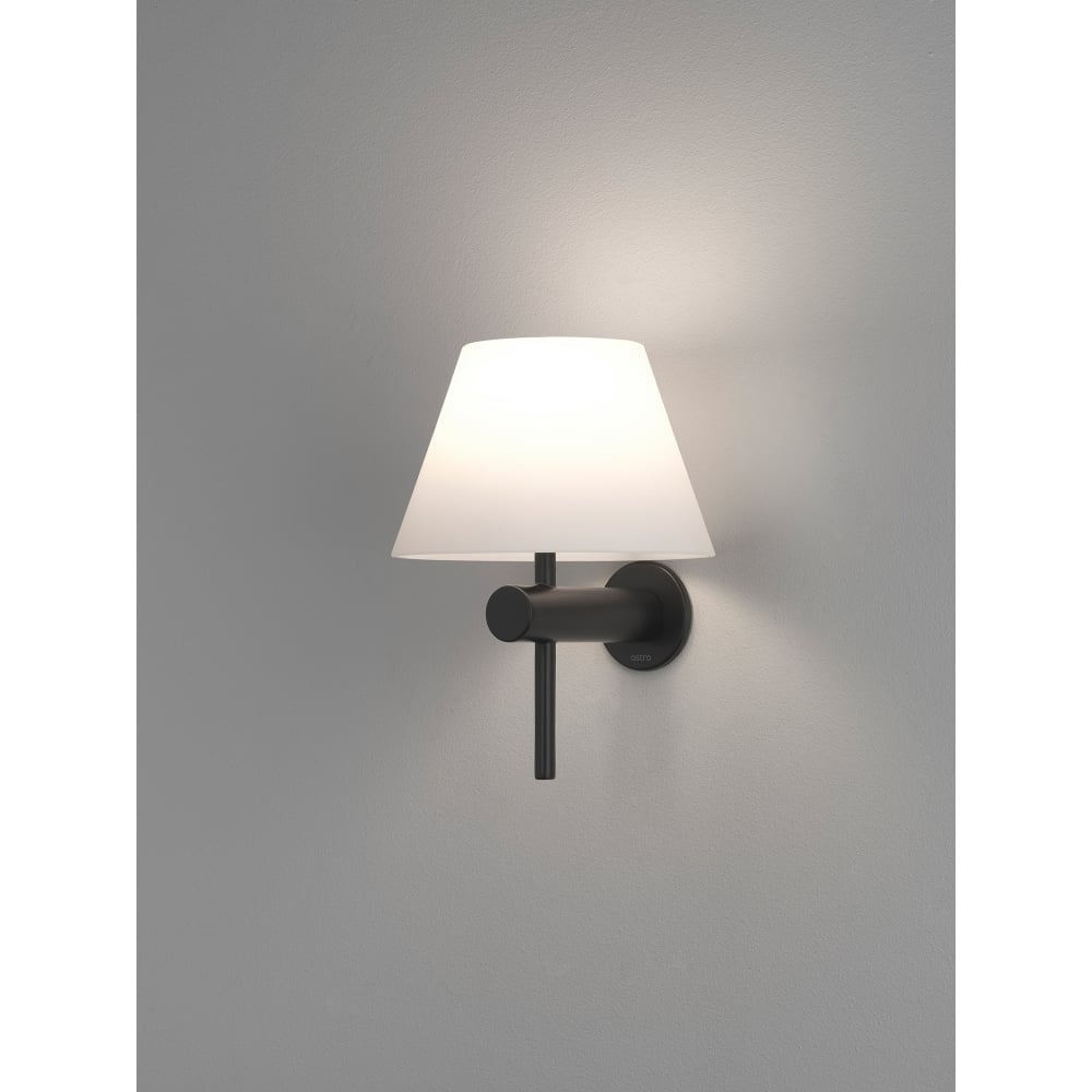 Black Finish Bathroom Lighting: Astro Lighting Roma Single Light Bathroom Wall Fitting In