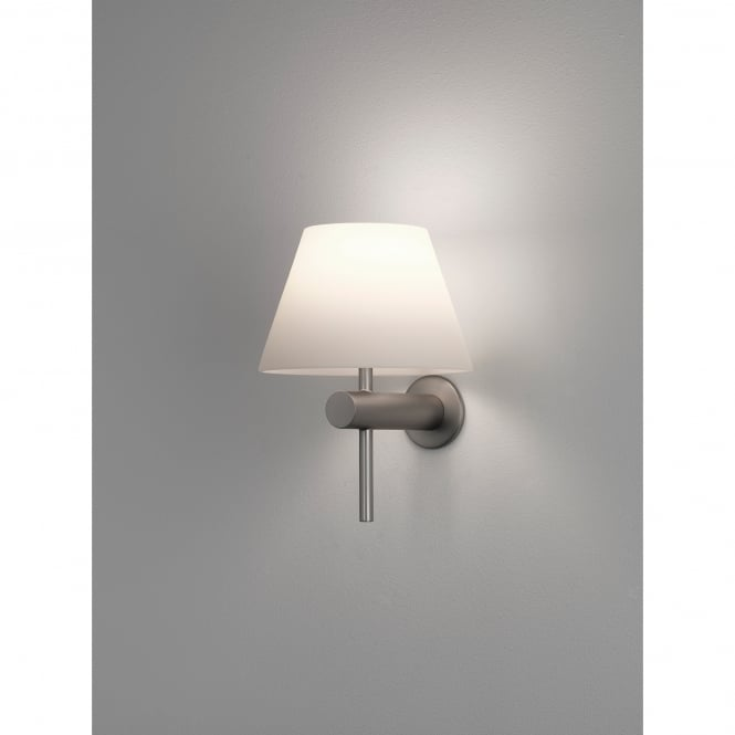 Astro Lighting Roma Single Light Bathroom Wall Fitting in Matt Nickel Finish