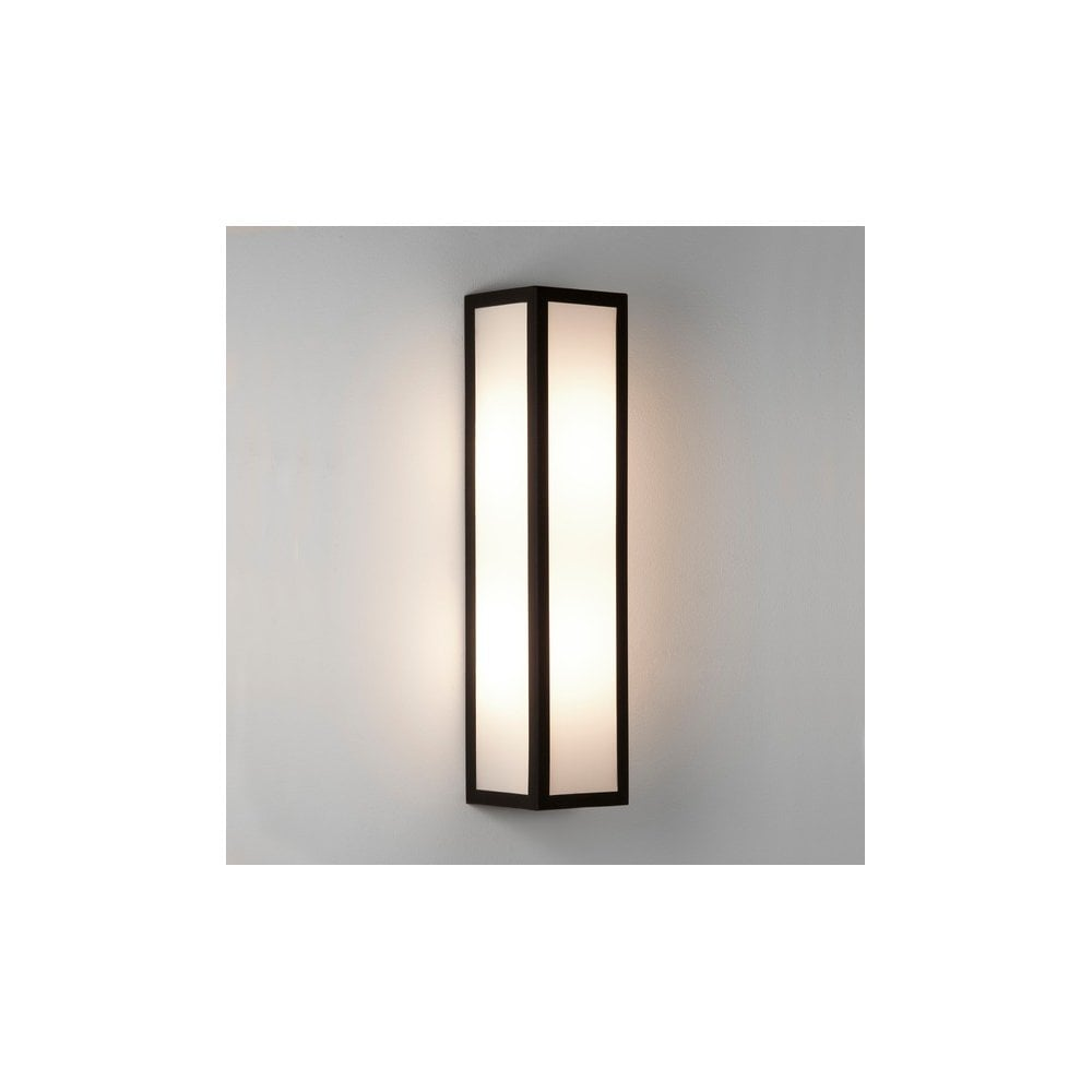 Black Finish Bathroom Lighting: Astro Lighting Salerno 2 Light LED Bathroom Wall Fitting
