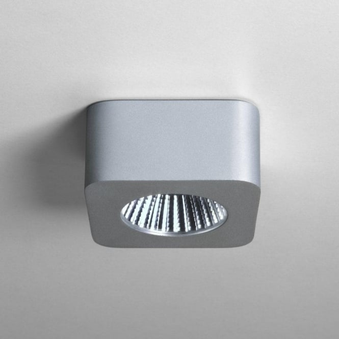 Astro Lighting Samos Square One Light LED Under Shelf or Cabinet Downlight in Anodised Aluminium Finish