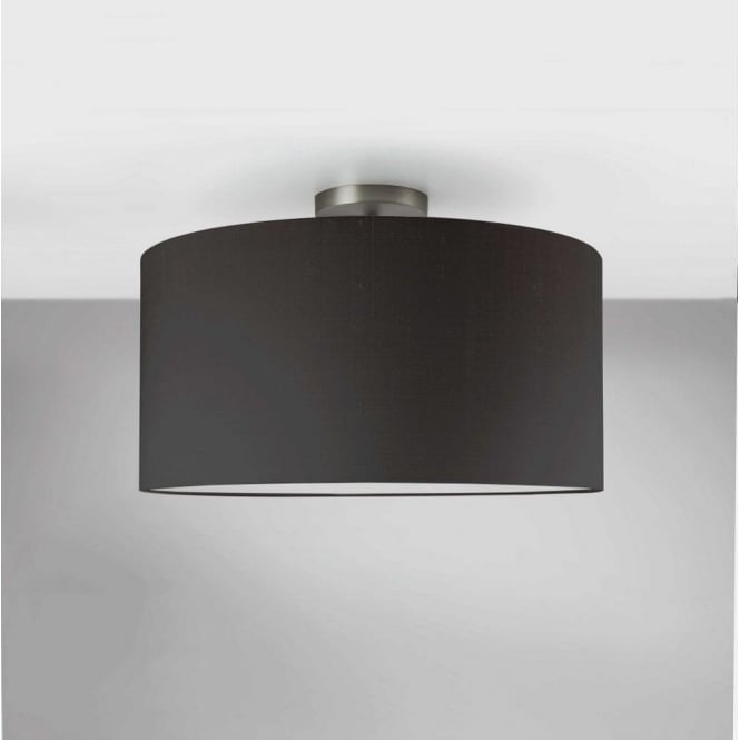 Semi flush unit ceiling light in matt nickel finish